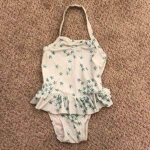 Old navy toddler girls size 5T starfish swim suit